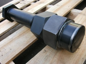 Hex head bolt  M72X530 with Hex nut and Domed nut