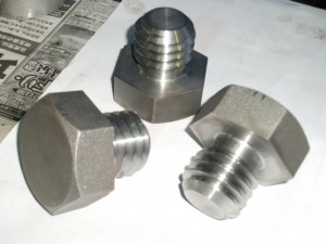 Hex head bolt  big size and short thread