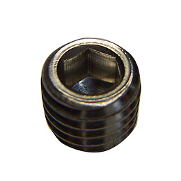 Titanium hex socket set screws cup-point Flat point Cone